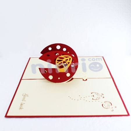 LADYBUG-3D CARD/POPUP/CONGRATULATIONS CARD/ GREETING CARD