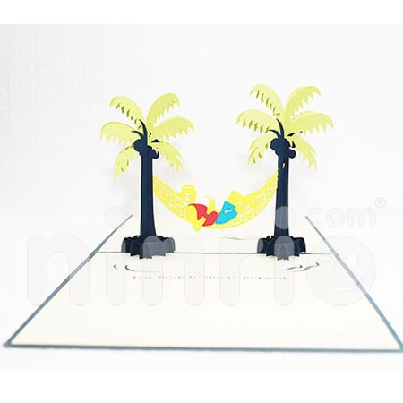 TWO COCONUT-3D CARD/POPUP/CONGRATULATIONS CARD