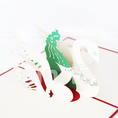 SWAN 3-3D CARD/POPUP CARD/LOVE AND WEDDING CARD