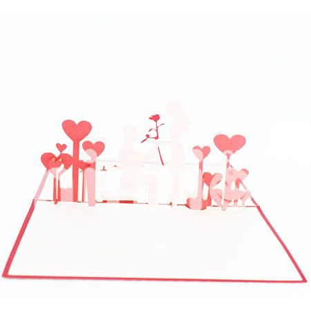 COUPLE LOVE-3D CARD/POPUP CARD/LOVE AND WEDDING CARD