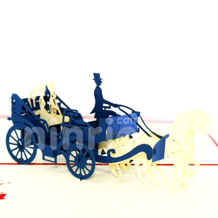WEDDING CARRIAGE-3D CARD/POPUP CARD/LOVE AND WEDDING CARD