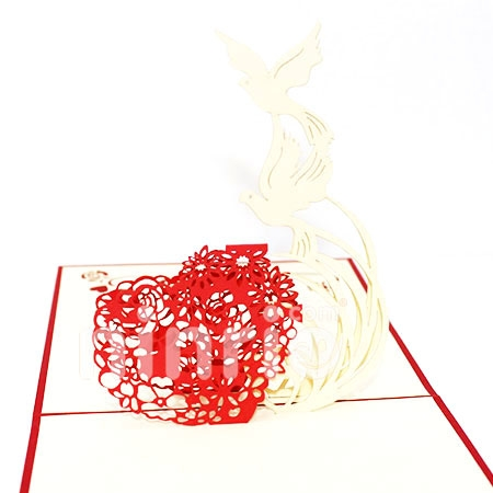 DOVE-3D CARD/POPUP CARD/LOVE AND WEDDING CARD