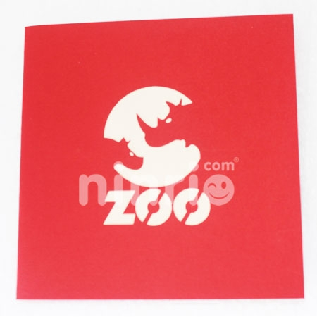ZOO-3D CARD/POPUP/BIRTHDAY CARD