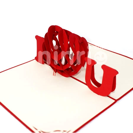 LOVE YOU-3D CARD/POPUP CARD/LOVE AND WEDDING CARD