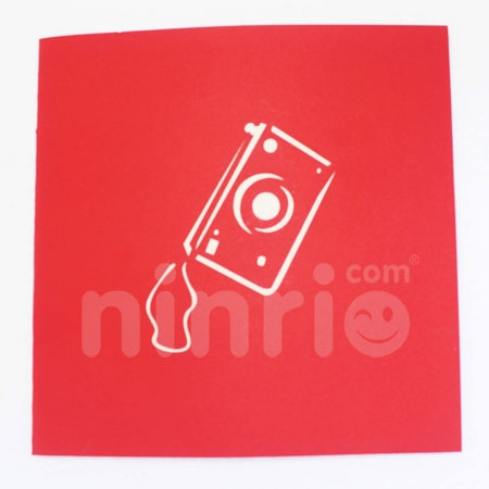 CAMERAS-3D CARD/POPUP/CONGRATULATIONS CARD