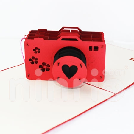 CAMERAS-3D CARD/POPUP/CONGRATULATIONS CARD/ GREETING CARD.