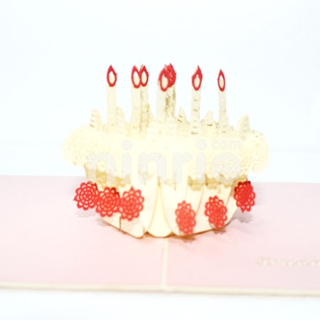 BIRTHDAY CAKE-3D CARD/POPUP/BIRTHDAY CARD