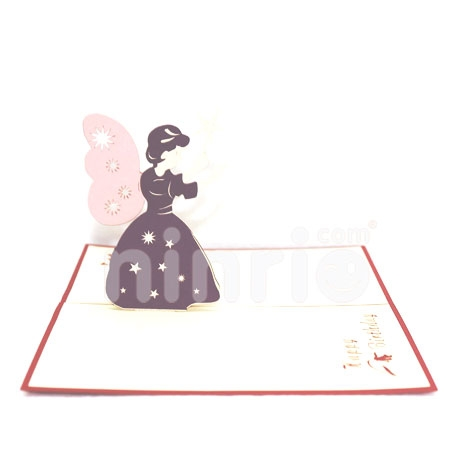 FAIRY GODMOTHER-3D CARD/POPUP/BIRTHDAY CARD