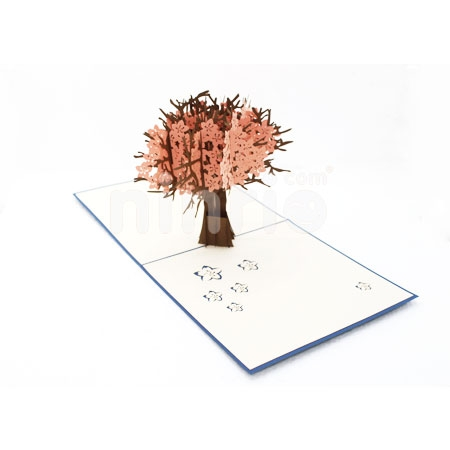 SERENE CHERRY BLOSSOM-3D CARD/POPUP/CONGRATULATIONS CARD