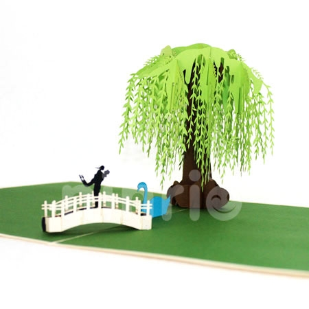 WILLOW TREE-3D CARD/POPUP CARD/LOVE AND WEDDING CARD