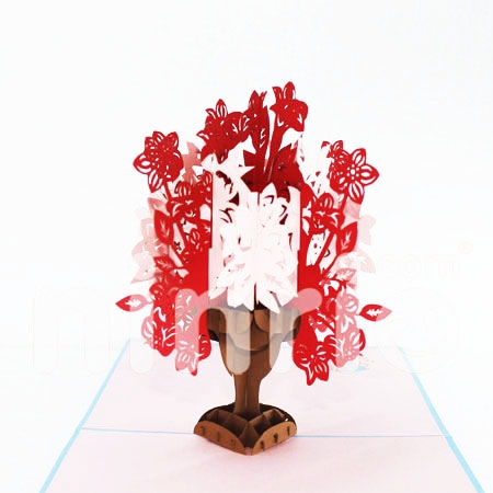 ORNATE FLORAL BOUTIQUE-3D CARD/POPUP/CONGRATULATIONS CARD