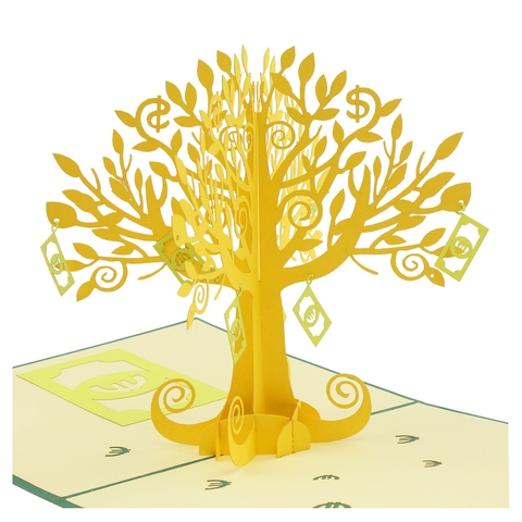 MONEY TREE-3D CARD/POPUP/CONGRATULATIONS CARD/ GREETING CARD