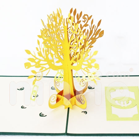 MONEY TREE-3D CARD/POPUP/CONGRATULATIONS CARD