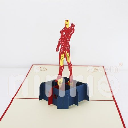 IRON MAN-3D CARD/POPUP/CONGRATULATIONS CARD/ GREETING CARD
