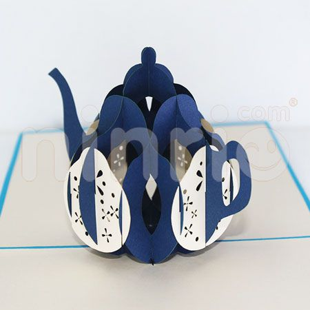 TEAPOT-3D CARD/POPUP/CONGRATULATIONS CARD/ GREETING CARD