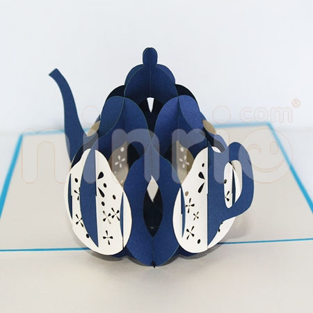 TEAPOT-3D CARD/POPUP/CONGRATULATIONS CARD