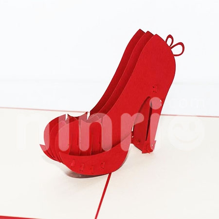 HIGH HEEL-3D CARD/POPUP/CONGRATULATIONS CARD/ GREETING CARD