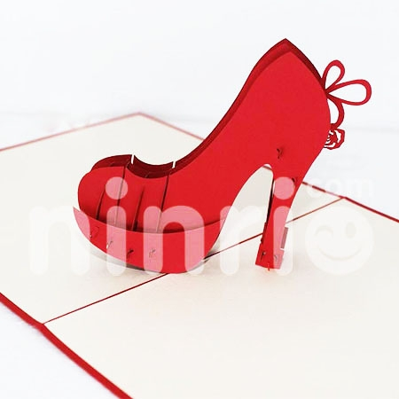 HIGH HEEL-3D CARD/POPUP/CONGRATULATIONS CARD