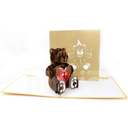 BEAR WITH LOVE-3D CARD/POPUP/BIRTHDAY CARD