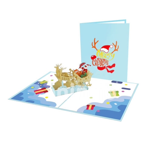 SANTA CLAUS 2 - 3D POP UP CHRISTMAS CARD GREETING CARD FOR HOLIDAY