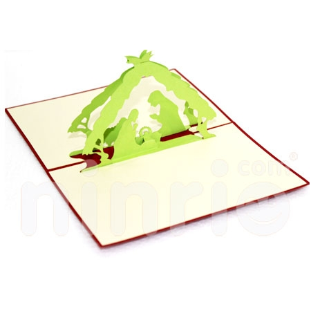 JESUS-3D CARD/POPUP CARD/CHRISTMAS CARD