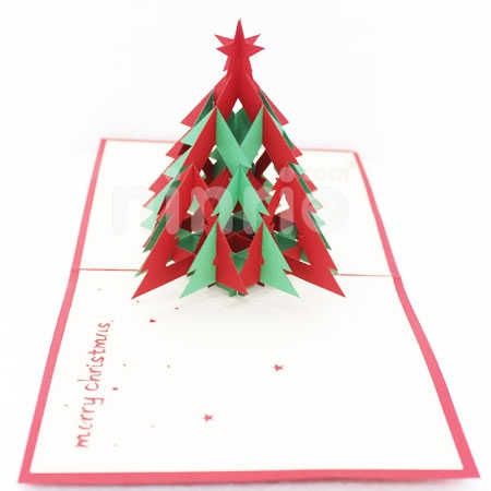 CHRISTMAS TREE 3D 2 - 3D CARD/POPUP CARD/CHRISTMAS CARD