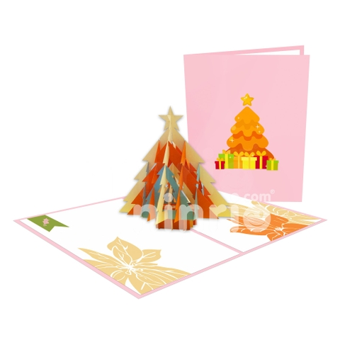 CHRISTMAS TREE 3D POP UP CHRISTMAS CARD GREETING CARD FOR HOLIDAY