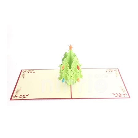CHRISTMAS TREE 3D 3 - 3D CARD/POPUP CARD/CHRISTMAS CARD