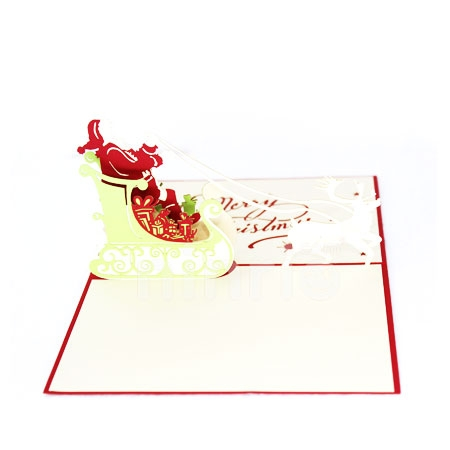 SANTA KING-3D CARD/POPUP CARD/CHRISTMAS CARD