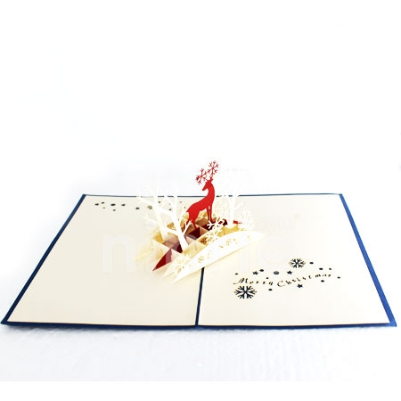 CHRISTMAS FOREST- 3D CARD/POPUP CARD/CHRISTMAS CARD