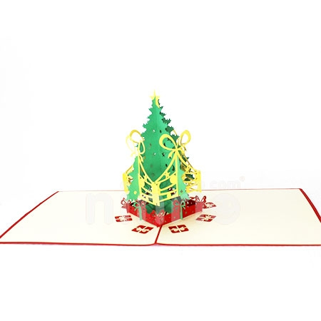 CHRISTMAS TREE LIGHT-3D CARD/POPUP CARD/CHRISTMAS CARD