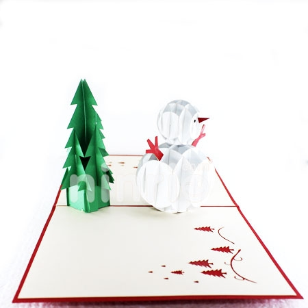 SNOW MAN-3D CARD/POPUP CARD/CHRISTMAS CARD