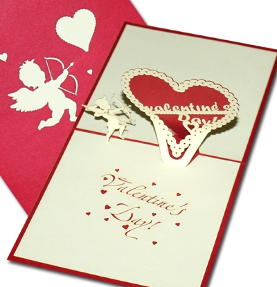 Eros 3D pop up greeting card