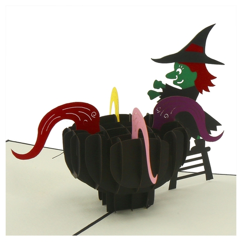 WITCHES BREW-3D CARD/POPUP/CONGRATULATIONS CARD/ HALLOWEEN'S DAY CARD