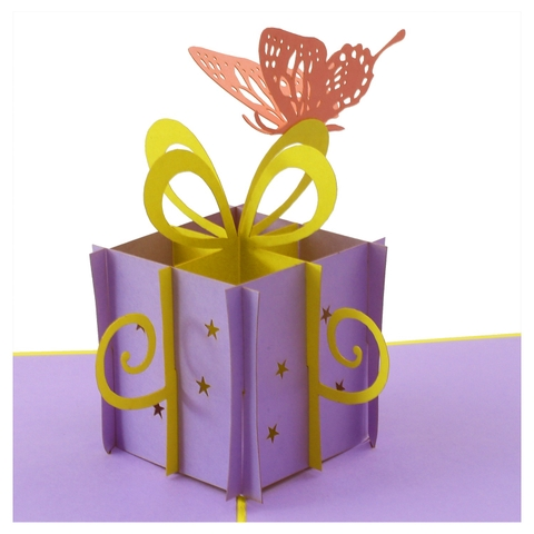 GIFT BOX 2-3D CARD/POPUP/BIRTHDAY CARD/ GREETING CARD/ CONGRATULATION CARD
