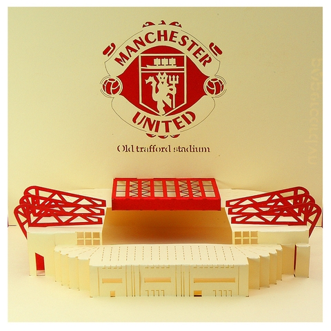 MU 2-3D CARD/POPUP/GREETING CARD/STADIUM CARD/ BIRTHDAY CARD