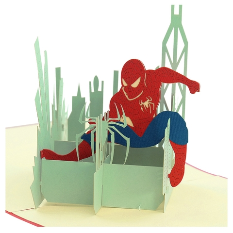 SPIDERMAN-3D CARD/POPUP/CONGRATULATIONS CARD/ GREETING CARD/