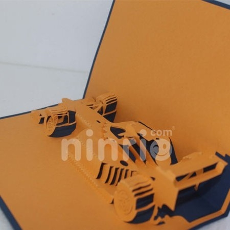 F1 RACING-3D CARD/POPUP/ GREETING CARD/SPORT CARD
