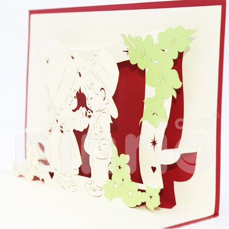 BABY BOW-3D CARD/POPUP CARD/LOVE AND WEDDING CARD