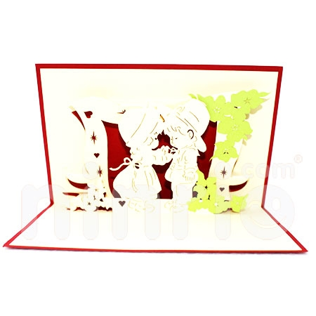 BABY BOW-3D CARD/POPUP CARD/LOVE AND WEDDING CARD/ GREETING CARD