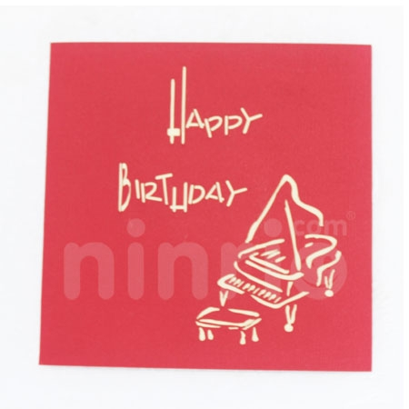 PIANO-3D CARD/POPUP/BIRTHDAY CARD