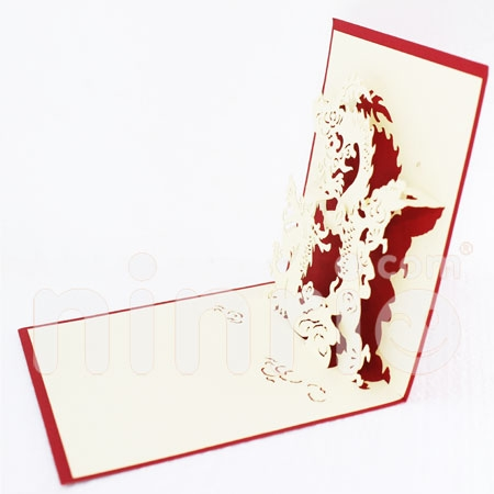 DRAGON 1-3D CARD/POPUP/CONGRATULATIONS CARD