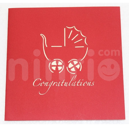 CHILDREN TROLLEYS 1-3D CARD/POPUP/CONGRATULATIONS CARD