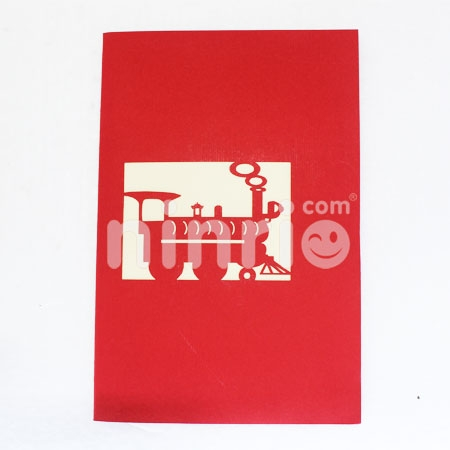 TRAIN 2-3D CARD/POPUP/CONGRATULATIONS CARD/ GREETING CARD.