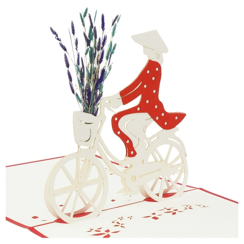 BICYCLE-3D CARD/POPUP/CONGRATULATIONS CARD/ GREETING CARD.