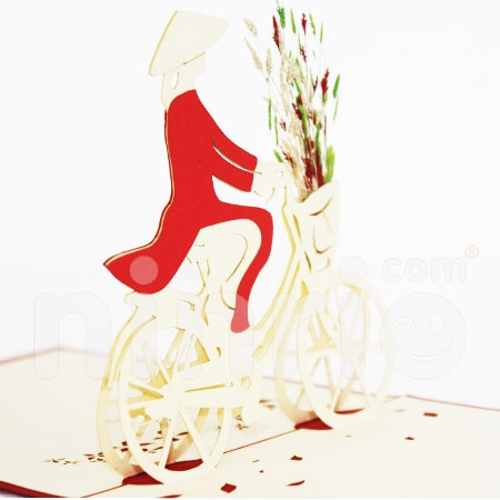 BICYCLE-3D CARD/POPUP/CONGRATULATIONS CARD