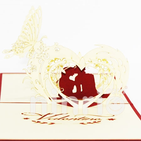 VALENTINES 2-3D CARD/POPUP CARD/LOVE AND WEDDING CARD