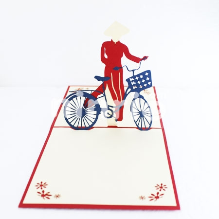 BICYCLE 2-3D CARD/POPUP/CONGRATULATIONS CARD
