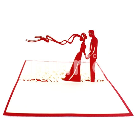 WEDDING COUPLE IN GARDEN-3D CARD/POPUP CARD/LOVE AND WEDDING CARD