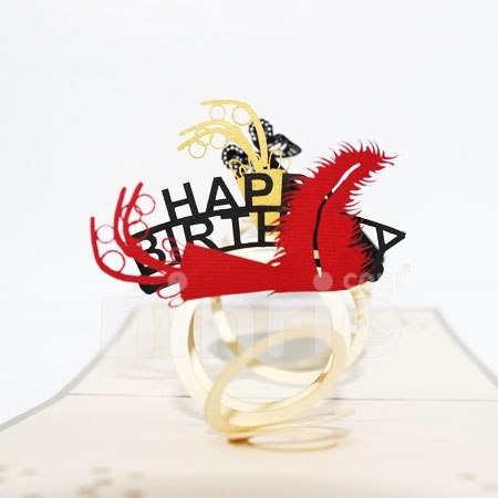 PARTY BIRTHDAY-3D CARD/POPUP/BIRTHDAY CARD